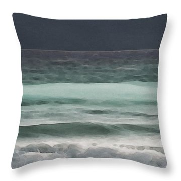 Even Tides Throw Pillow