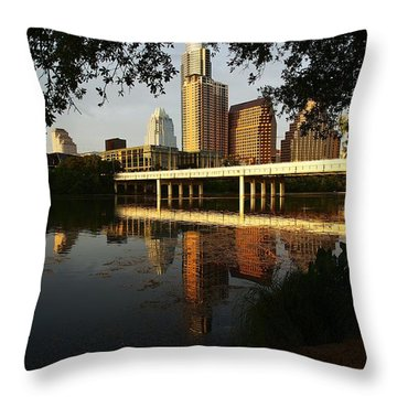 Evening Along The River Throw Pillow by Dave Files