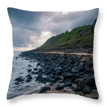 Evening Arrives At Kalalau 2 Throw Pillow