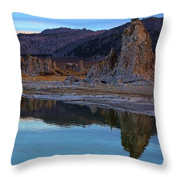 Evening At Mono Lake Throw Pillow