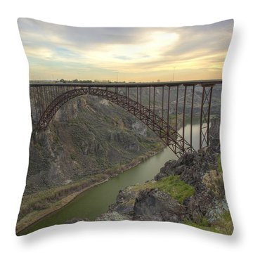 Evening At Perrine Throw Pillow