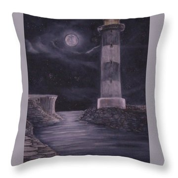 Evening At Point Lookout Throw Pillow