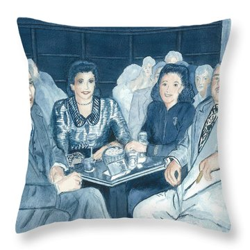 Evening At The Club Throw Pillow