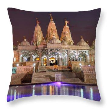 Evening At The Mandir Throw Pillow