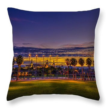 Evening At The Park Throw Pillow by Marvin Spates