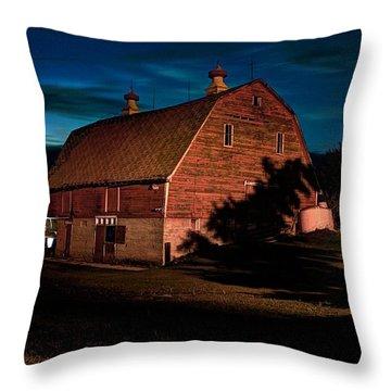 Evening Barn Throw Pillow