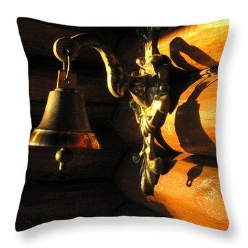Throw Pillow featuring the photograph Evening Bell by Leena Pekkalainen