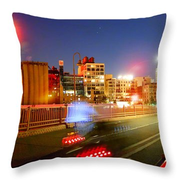 Evening Bike Ride Throw Pillow by Heidi Hermes