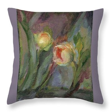 Evening Bloom Throw Pillow
