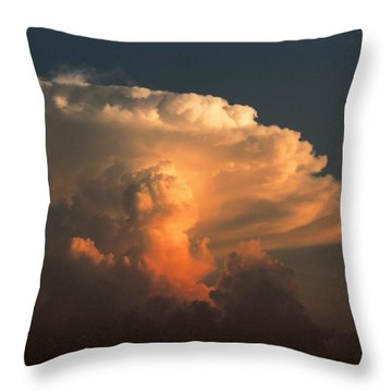 Throw Pillow featuring the photograph Evening Buildup by Charlotte Schafer