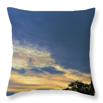 Evening By The Eiffel Tower Throw Pillow by Maj Seda