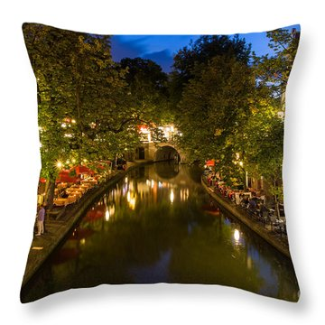 Evening Canal Dinner Throw Pillow
