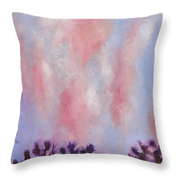 Evening Clouds Throw Pillow