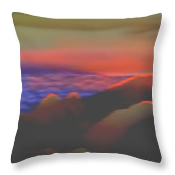 Evening Dawn In North Hills Throw Pillow