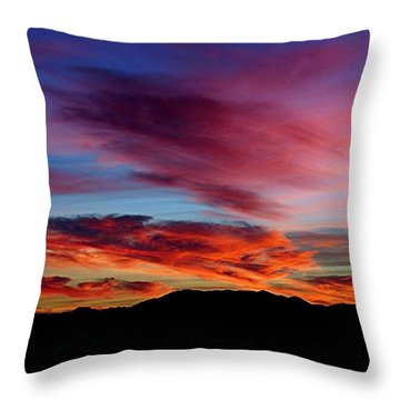 Evening Desert Skies Throw Pillow