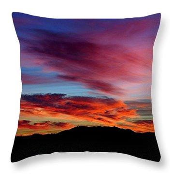 Evening Desert Skies Throw Pillow by Mistys DesertSerenity
