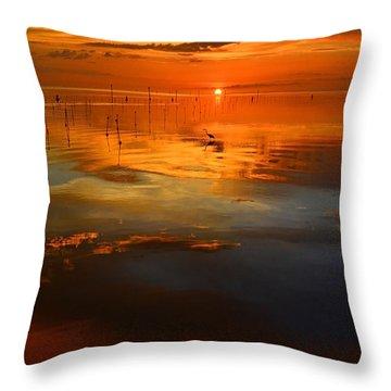 Evening Fishing Throw Pillow by Stuart Harrison