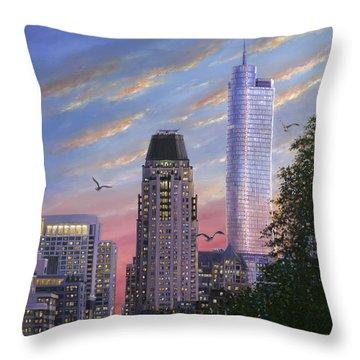 Evening Flight Throw Pillow by Doug Kreuger