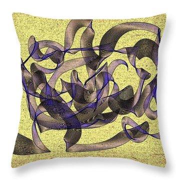 Evening Flight Throw Pillow by Marian Palucci-Lonzetta