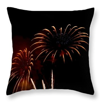 Throw Pillow featuring the photograph Evening Flowers by Linda Mishler