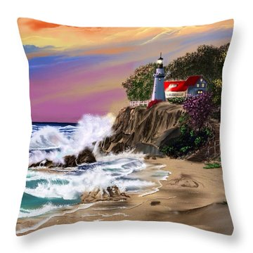Evening Glow Throw Pillow by Anthony Fishburne