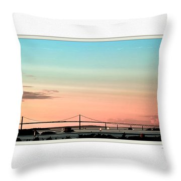 Evening Glow Throw Pillow by Tom Prendergast