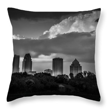 Evening Gray Throw Pillow by Marvin Spates