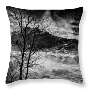 Evening Great Falls Maine Throw Pillow by Bob Orsillo