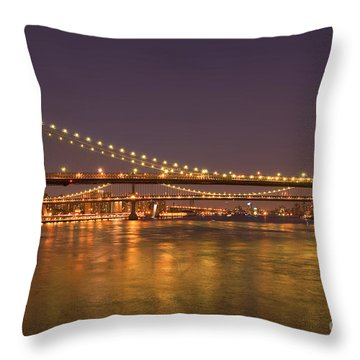Evening II New York City Usa Throw Pillow by Sabine Jacobs