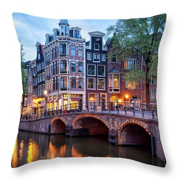 Evening In Amsterdam Throw Pillow