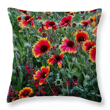 Evening In Bloom Throw Pillow