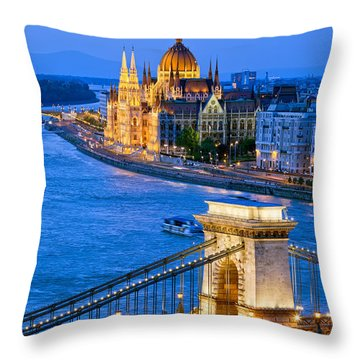 Evening In Budapest Throw Pillow