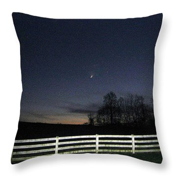 Evening In Horse Country Throw Pillow by Judith Morris