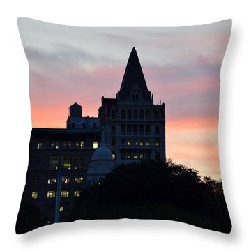 Evening In New York Throw Pillow by Sonali Gangane