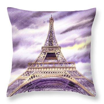 Evening In Paris A Walk To The Eiffel Tower Throw Pillow