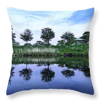 Evening Lake Throw Pillow by Svetlana Sewell
