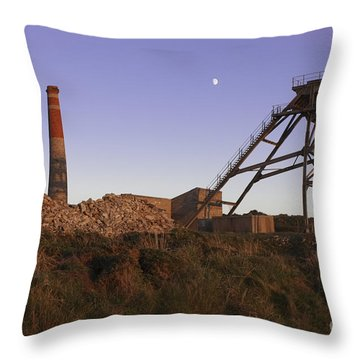Evening Light At Botallack Throw Pillow by Terri Waters
