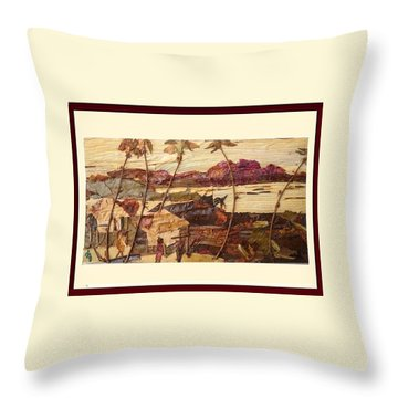 Evening Light  Throw Pillow by Basant Soni