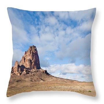 Evening Light On Agathla Peak Throw Pillow