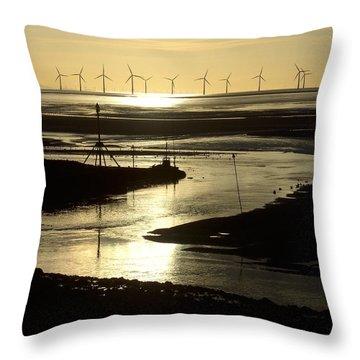 Evening Low Tide 2 Throw Pillow