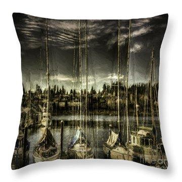 Throw Pillow featuring the photograph Evening Mood by Jean OKeeffe Macro Abundance Art
