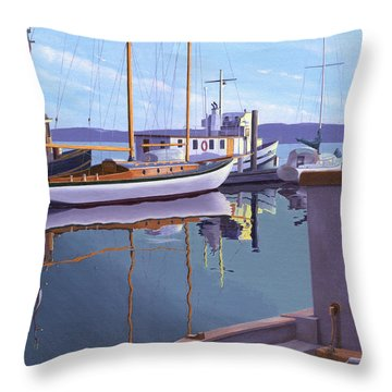 Evening On Malaspina Strait Throw Pillow