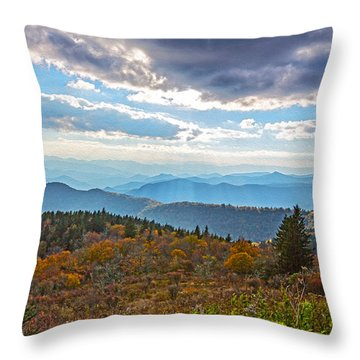 Evening On The Blue Ridge Parkway Throw Pillow