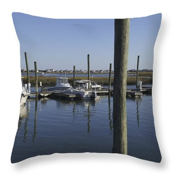 Throw Pillow featuring the photograph Evening On The Inlet by MM Anderson