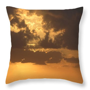 Throw Pillow featuring the photograph Evening Over Lake George by Fortunate Findings Shirley Dickerson