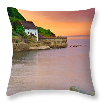 Evening Over Runswick Bay Throw Pillow
