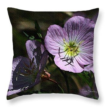 Evening Primrose Throw Pillow