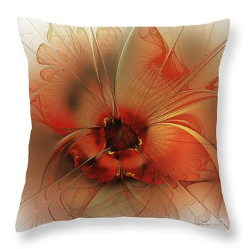 Evening Queen Throw Pillow