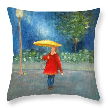 Evening Rain Throw Pillow by Patricia Cleasby
