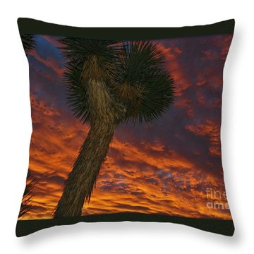 Evening Red Event Throw Pillow by Angela J Wright